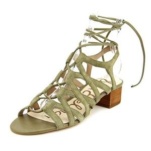 Sam Edelman Ardella Green Leather Gladiator Sandal